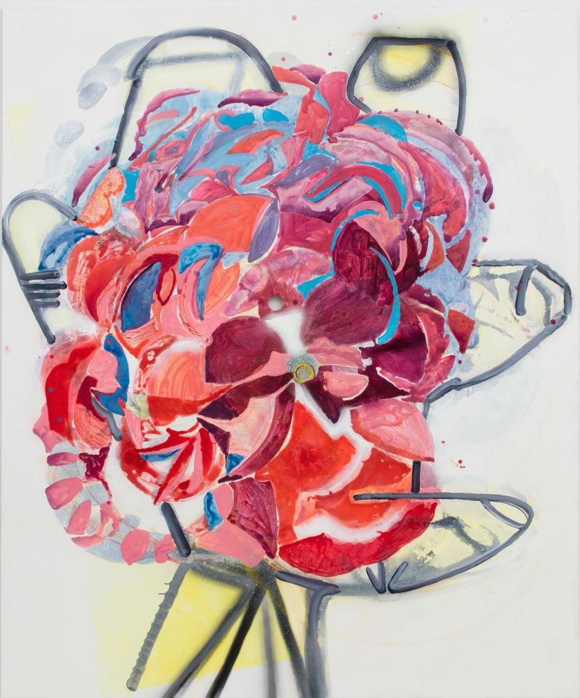 SARAH PICKSTONE- Rose 2017 240 x 200 cm acrylic on panel
