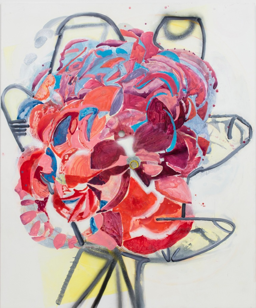 SARAH PICKSTONE-  Rose 2017 240 x 200 cm acrylic on panel .jpg