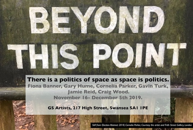"""There is a politics of space as space is politics"" at GS Artists – November 16th to December 5th."